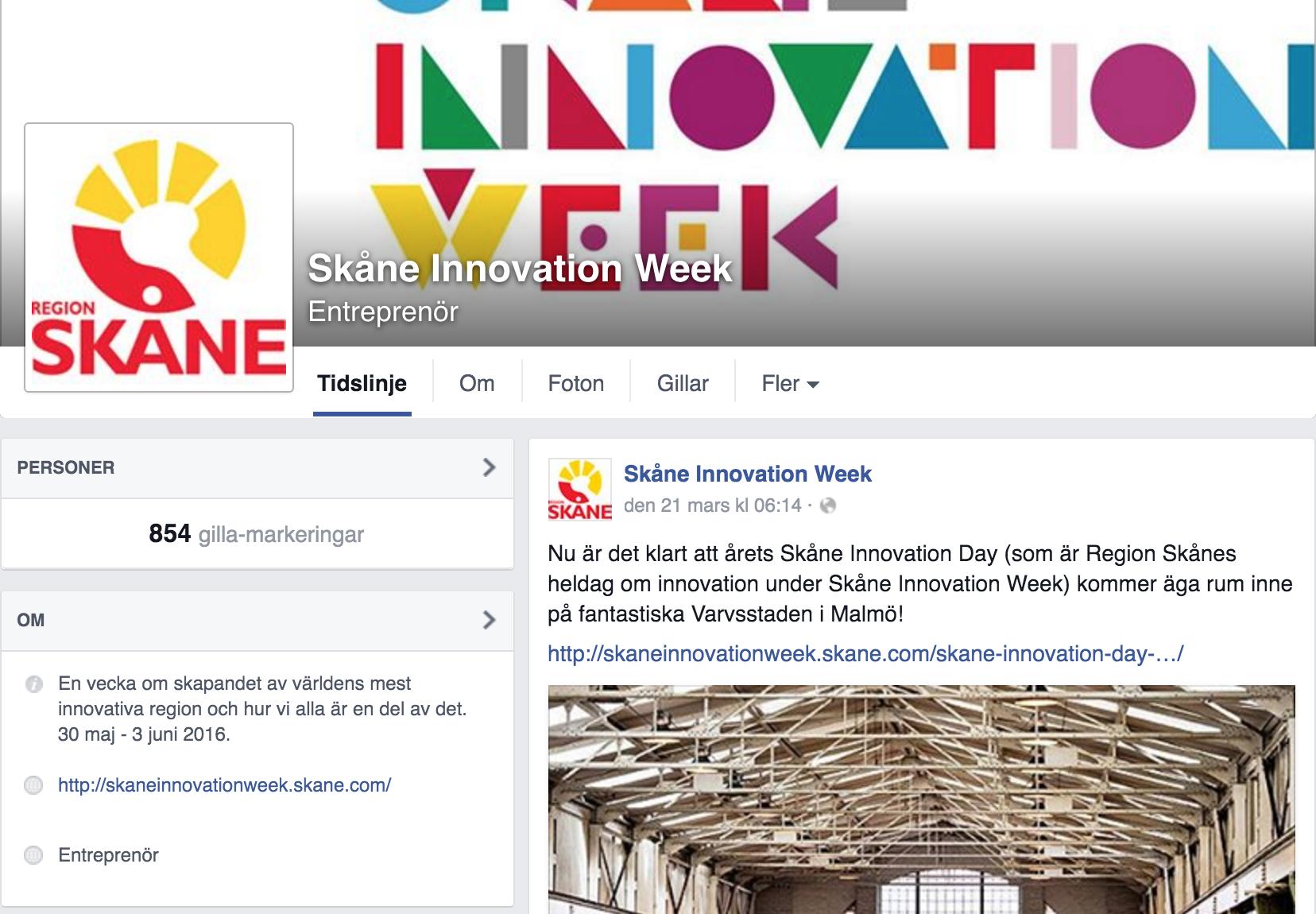 Skåne Innovation Week på Facebook