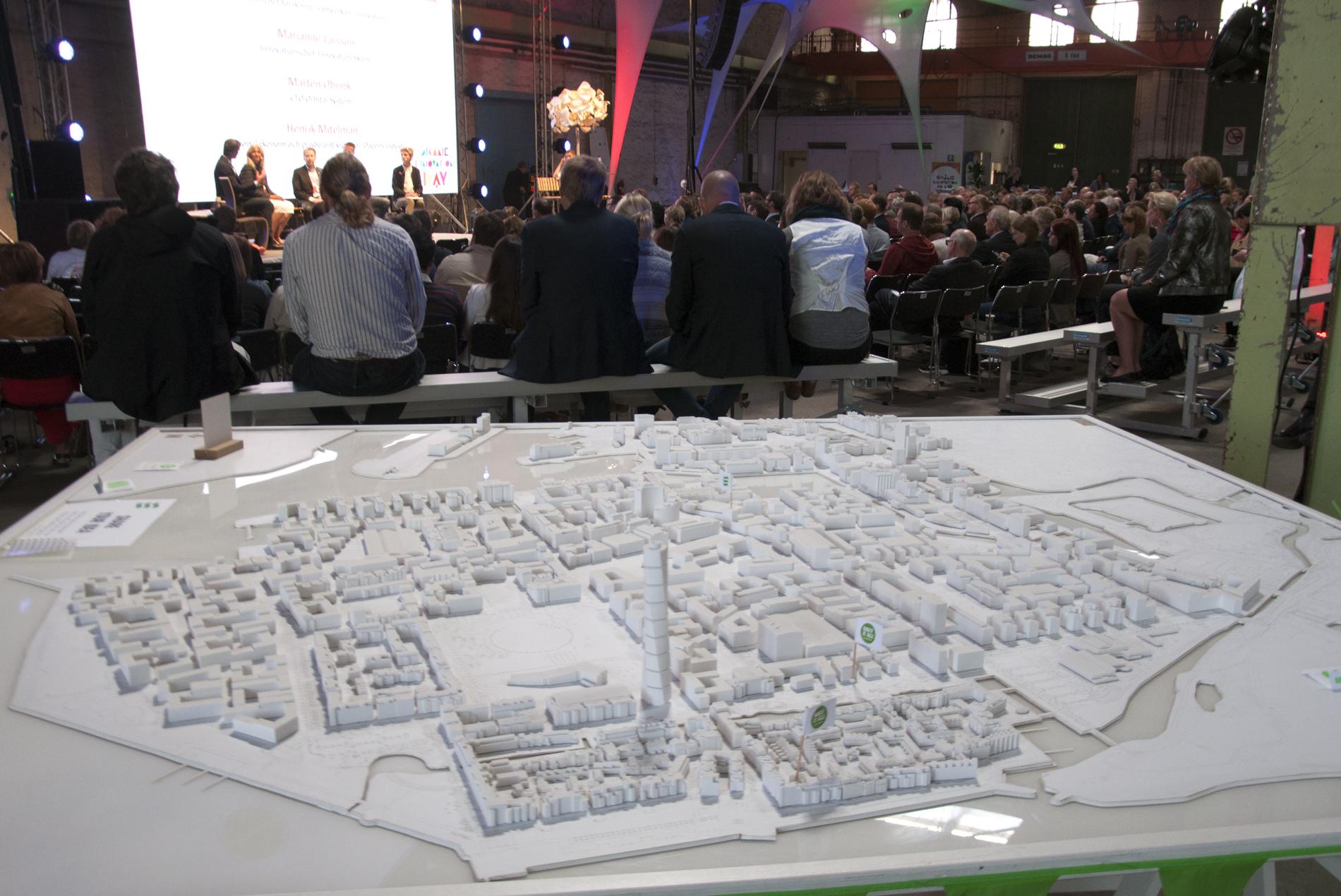 3D-modell Västra hamnen