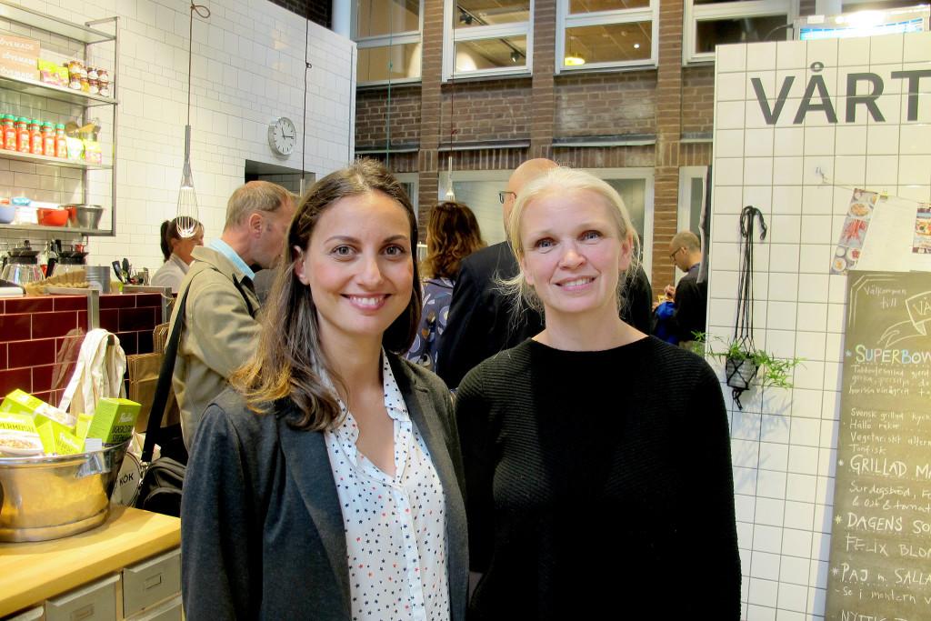 Carolina Tengblad, utvecklingschef på Orkla Foods Sverige, och Maria Norrving, gastronom på Orkla Foods Sverige